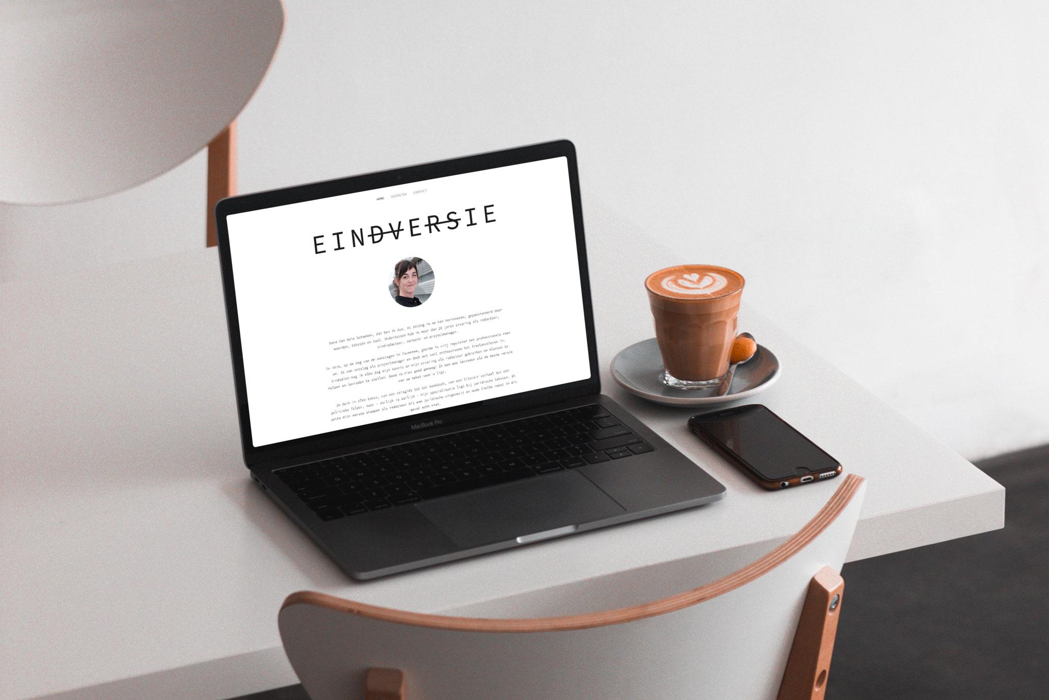 website voor copywriter, eindredacteur eindversie